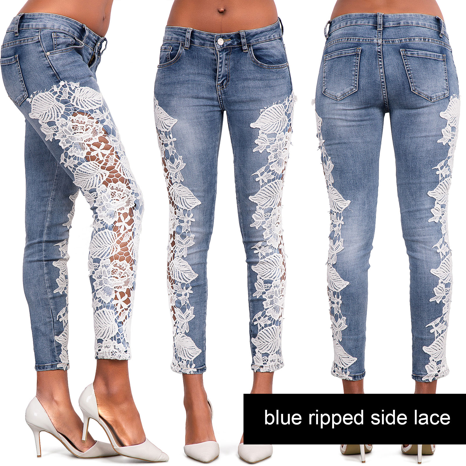 Ripped knee jeans ebay
