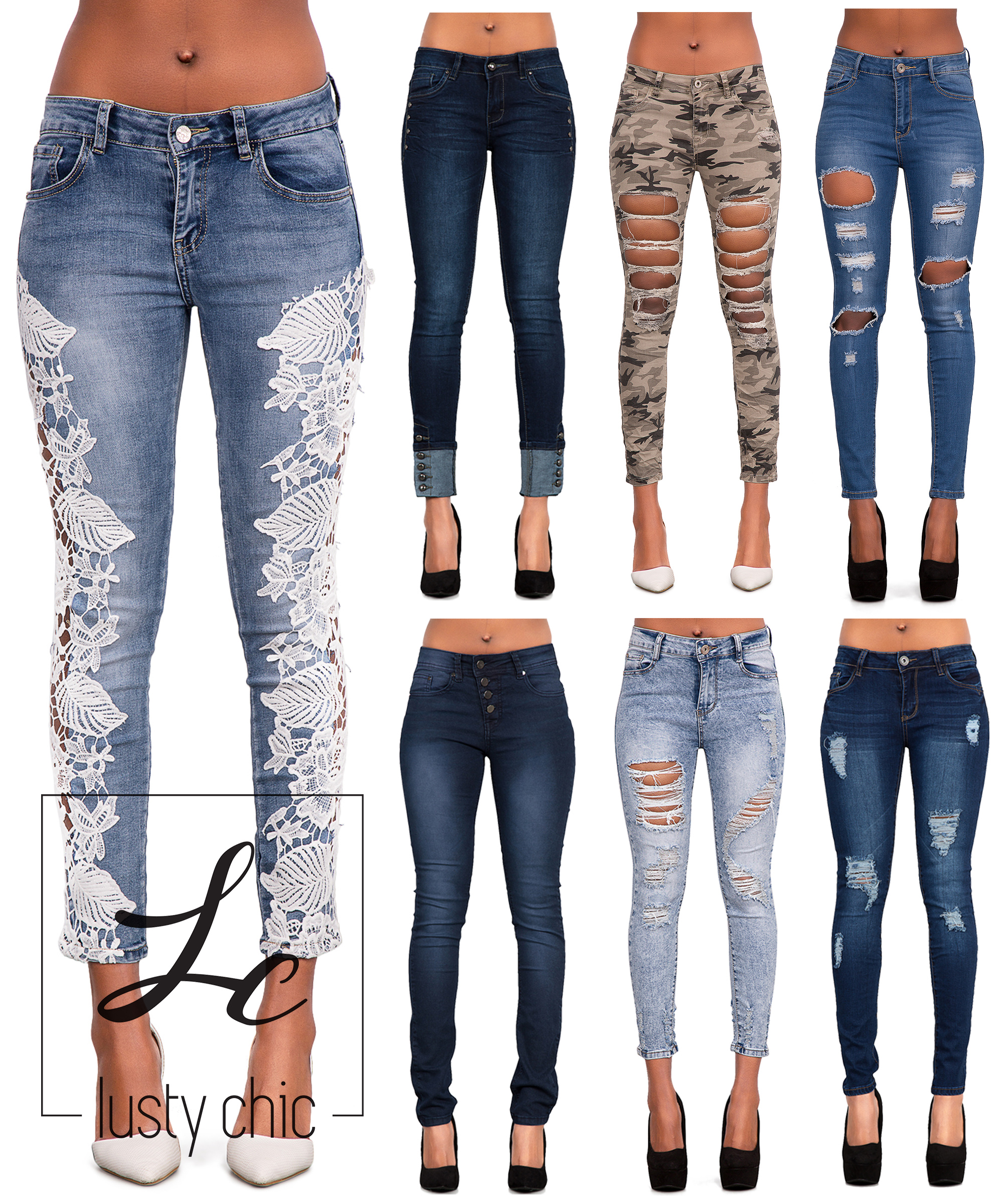 Womens Ripped Jeans | eBay