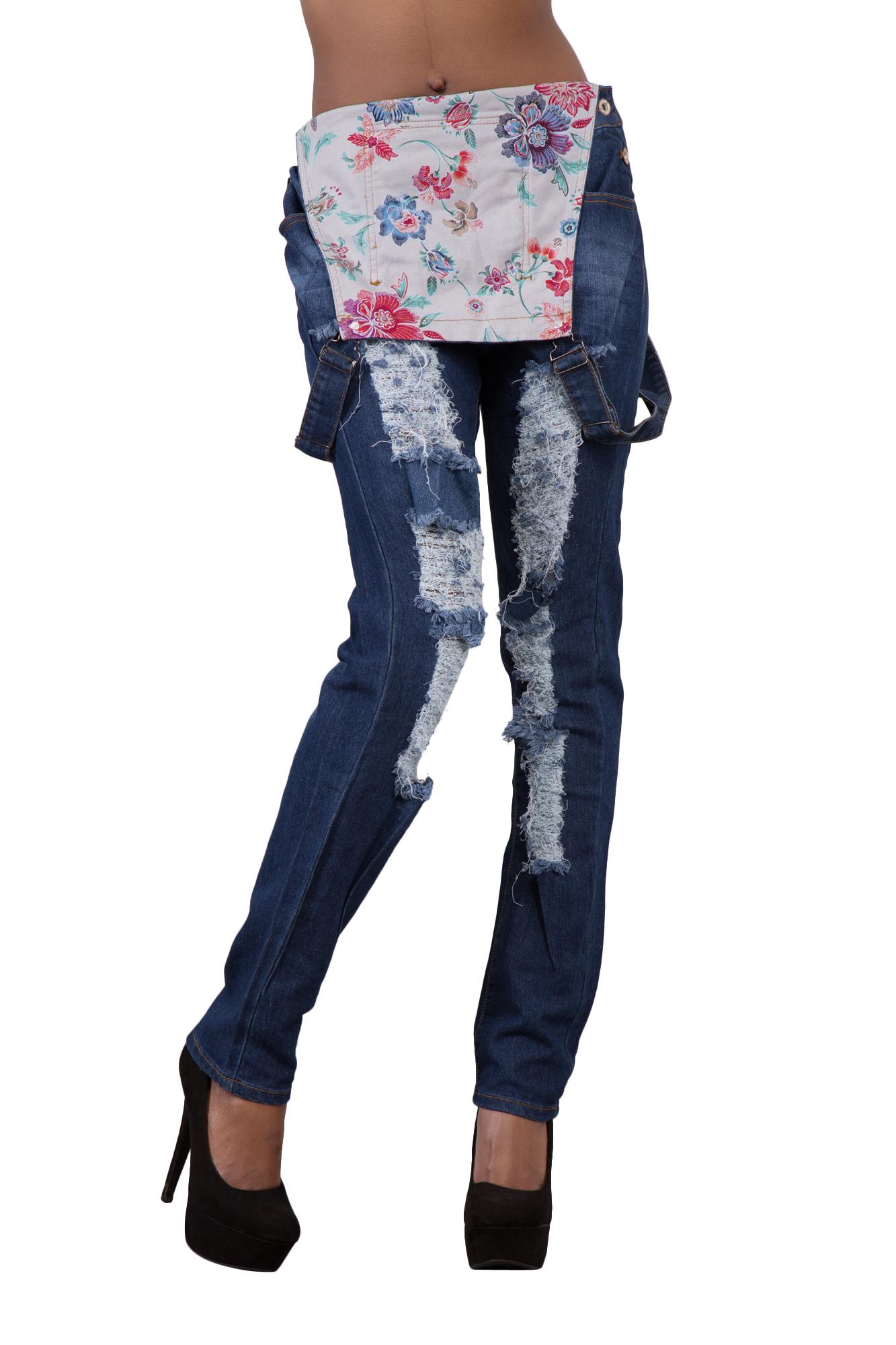 Ladies Women High Waist Blue Denim Plus Size Dungarees Jeans ...