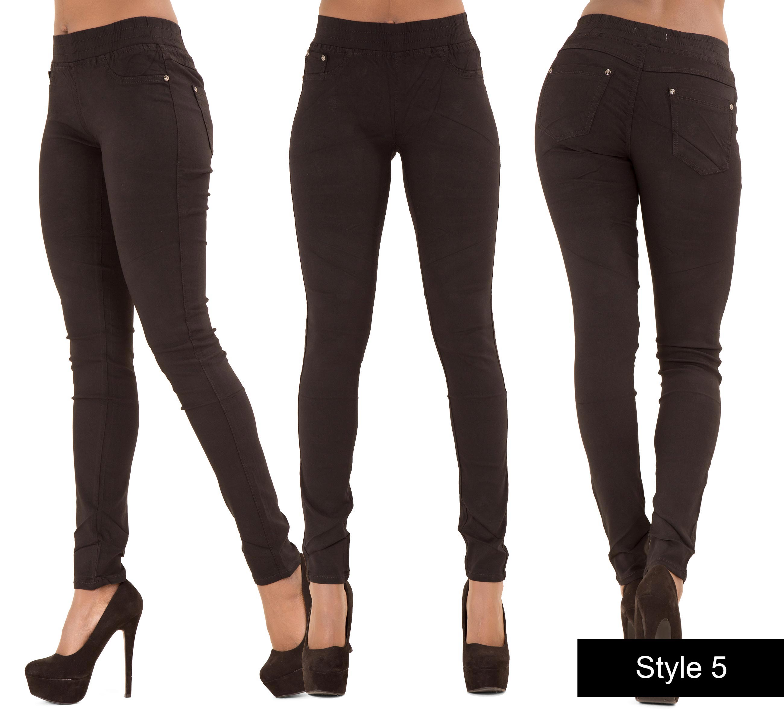 Ladies Ripped Sexy Skinny Jeans Womens High Waist Jegging Plus ...