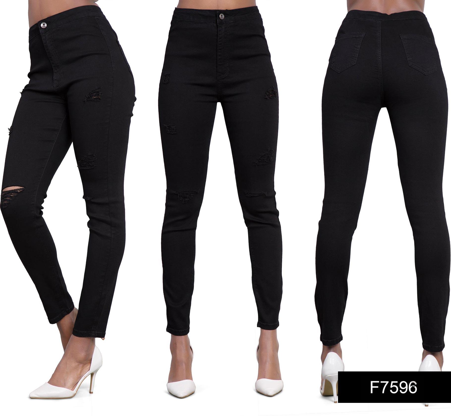 Womens Ladies Sexy High Waist Skinny Jeans Blue Stretch Denim Size ...