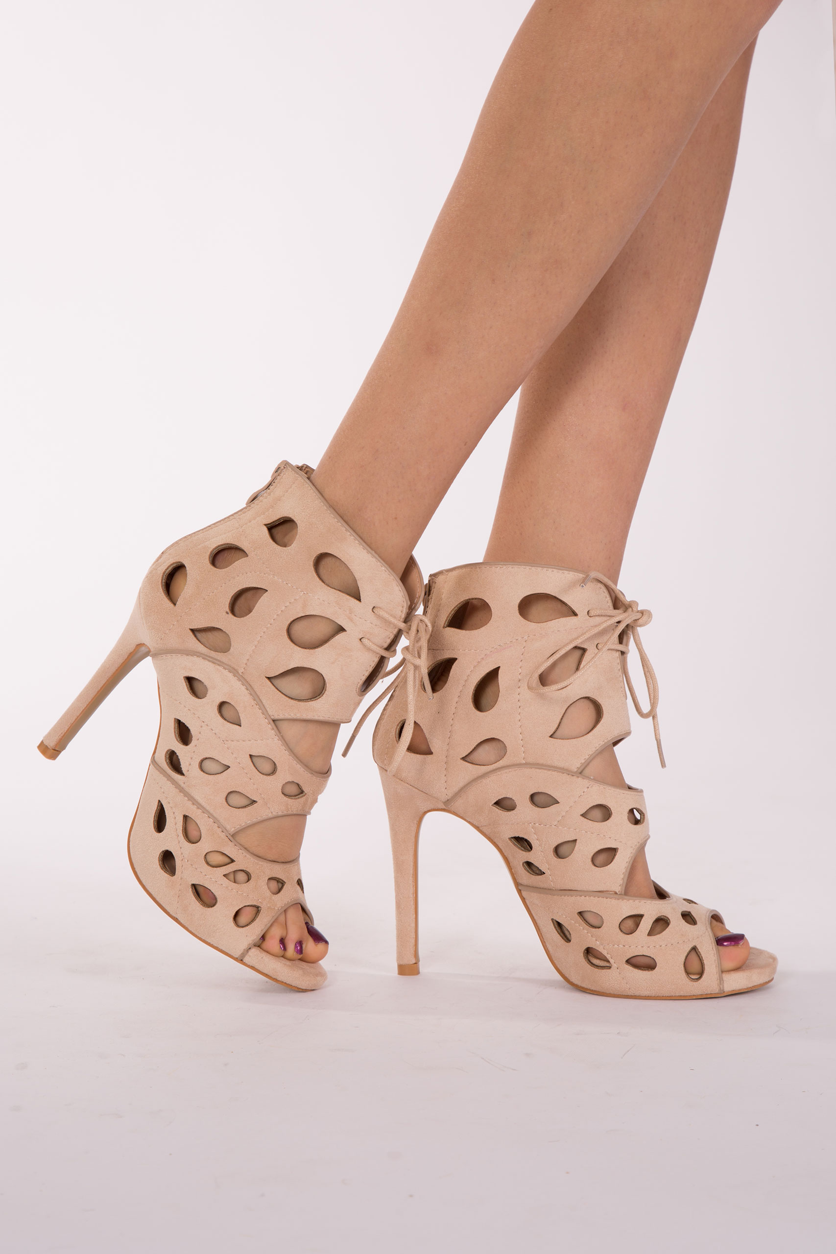 WOMENS LADIES HIGH HEELS STILETTOS LACE UP GLADIATOR ANKLE SANDALS ...