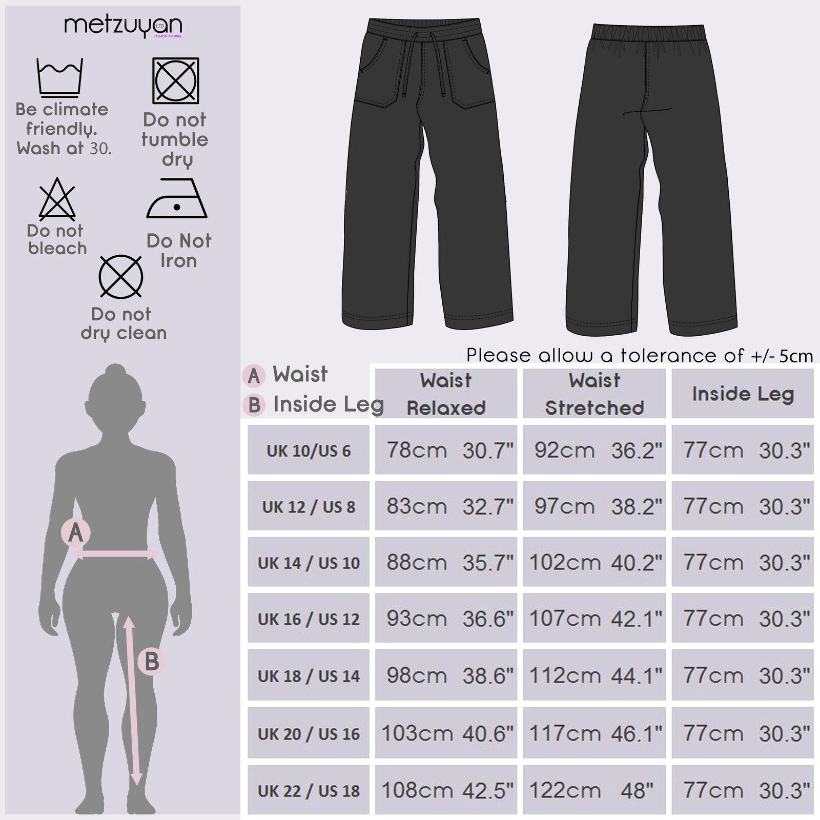 Femme Femmes Pleine Longueur En Lin Pantalon Pantalon Noir Foncé Vacances Été Confortable