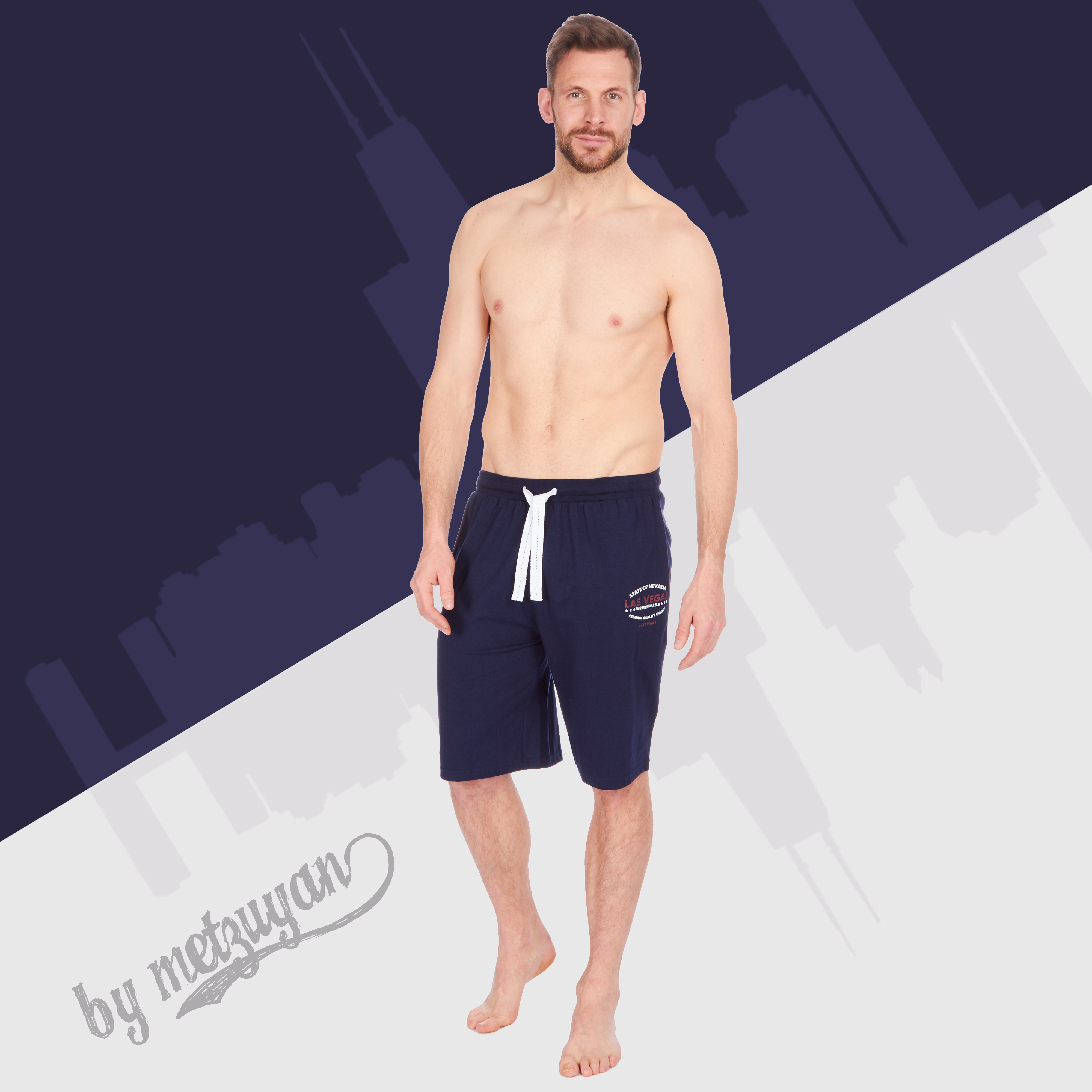 Short homme homewear lungewear Décontracté Pantalon Avec Poches AMERICAN Themed loose