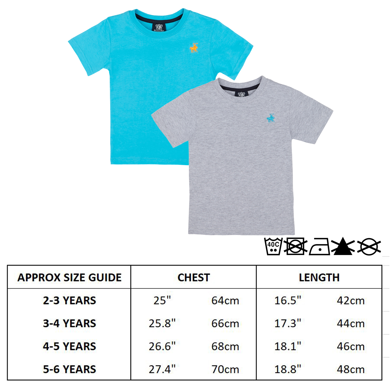 Boys T-shirt Top Short Sleeved Essential Horse Embroidery Plain Colourful Summer