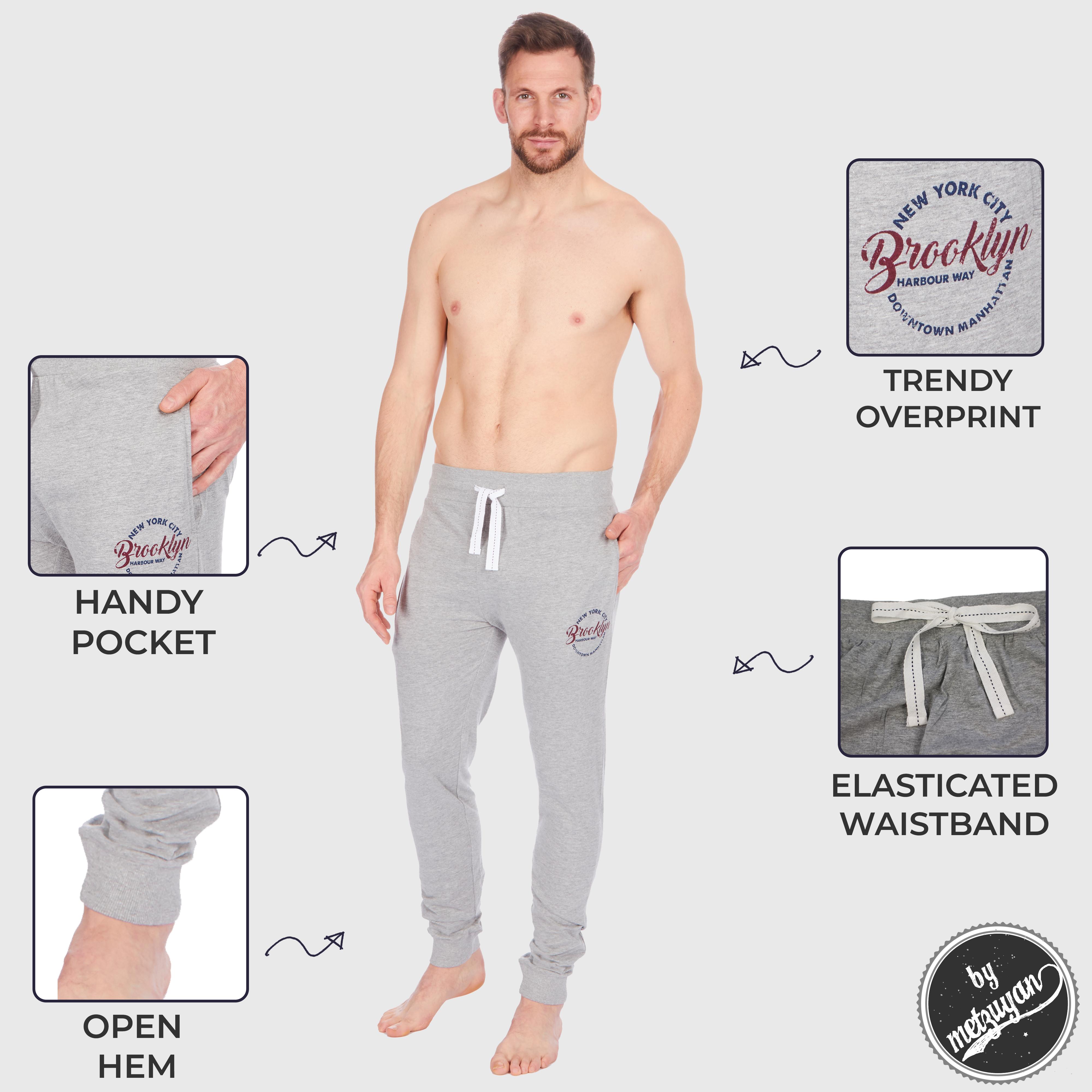 Metzuyan hommes pyjama de nuit Sommeil Lit pantalons Nightwear Lounge Coton S-XXL