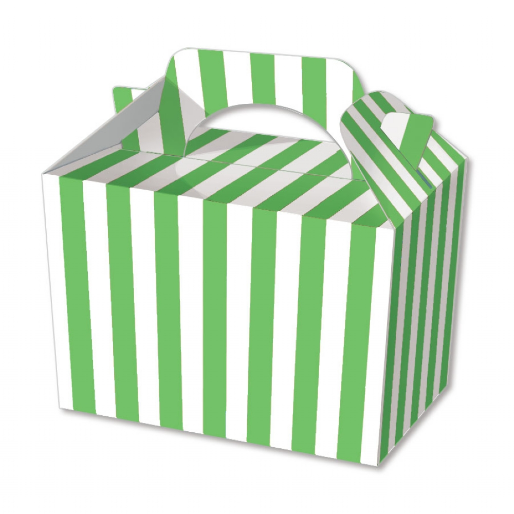 10 striped boxes choose from 6 colours food lunch - Carton valencia ...