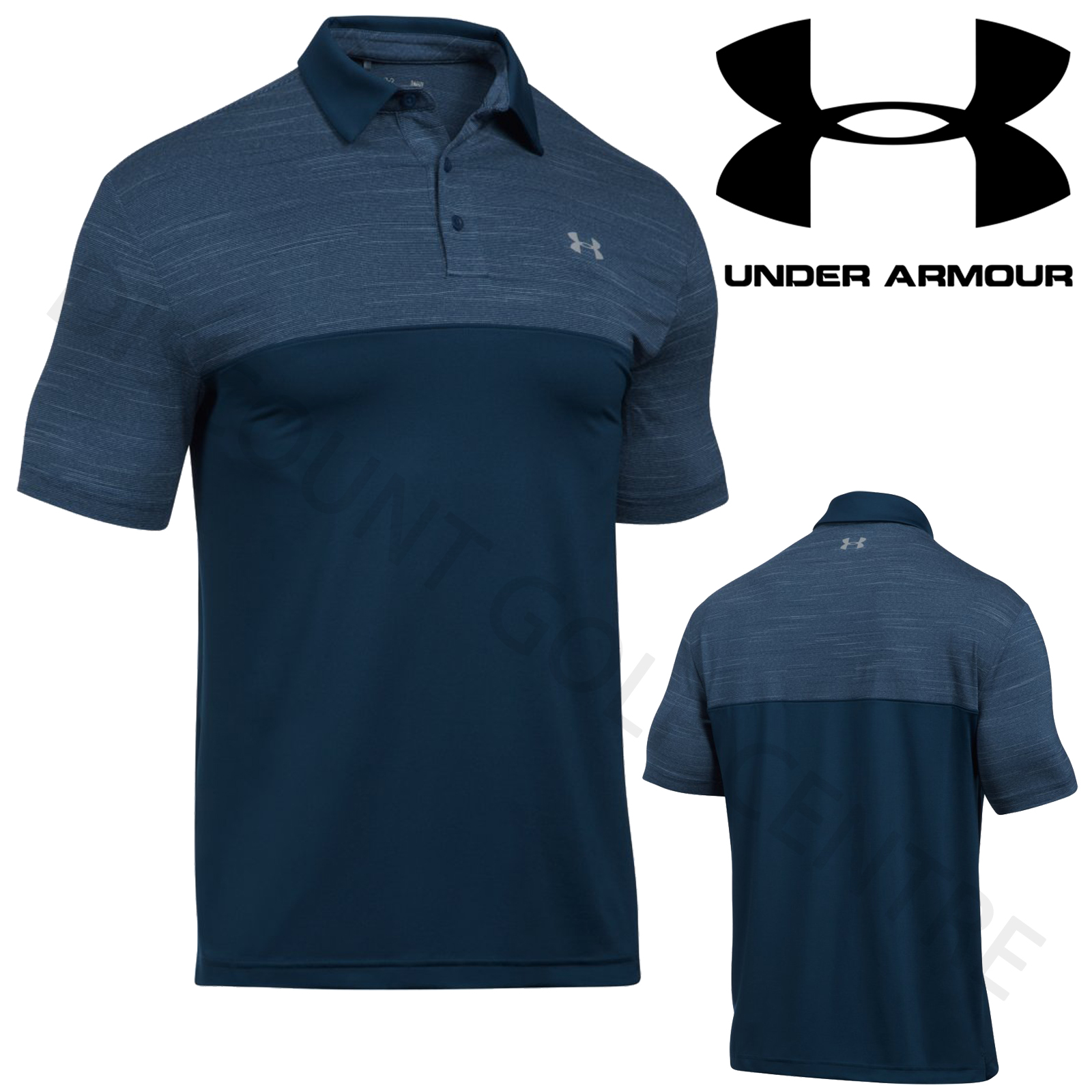 Under armour 2017 ua mens playoff blocked golf heatgear for Under armor polo shirts