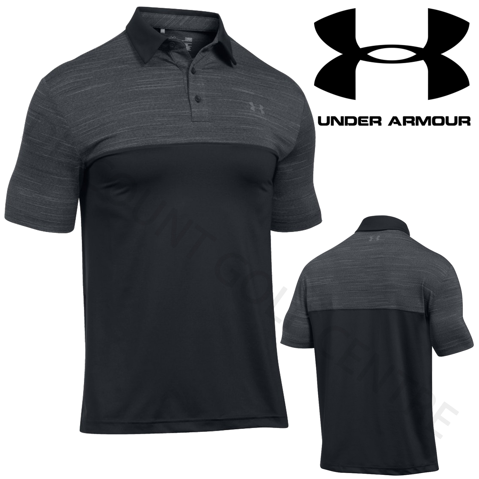 Under armour 2017 ua mens playoff blocked golf heatgear for Under armour tottenham polo shirt