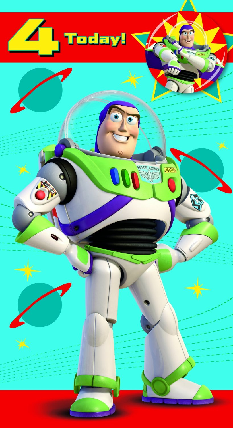 Edad De Toy Story 4 Buzz Lightyear Tarjeta De Cumplea oscompleto – Buzz Lightyear Birthday Card
