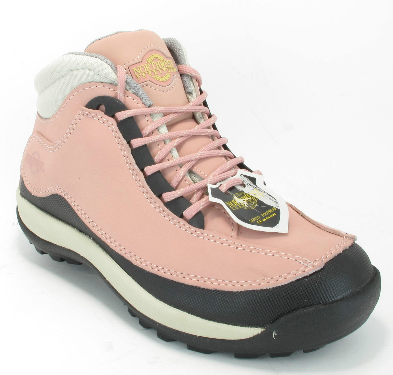 womens light weight steel toe cap safety work boots size 4