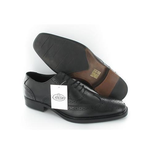 mens black leather lace up smart formal lightweight