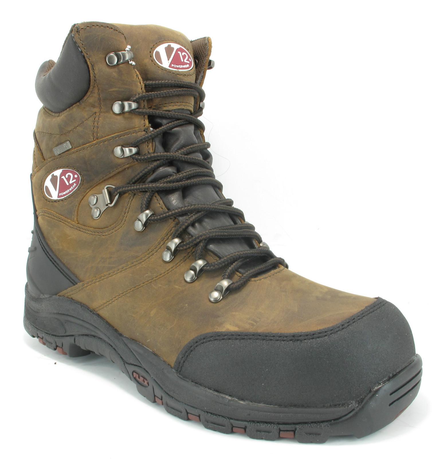 mens v12 high leg style waterproof s3 steel toe