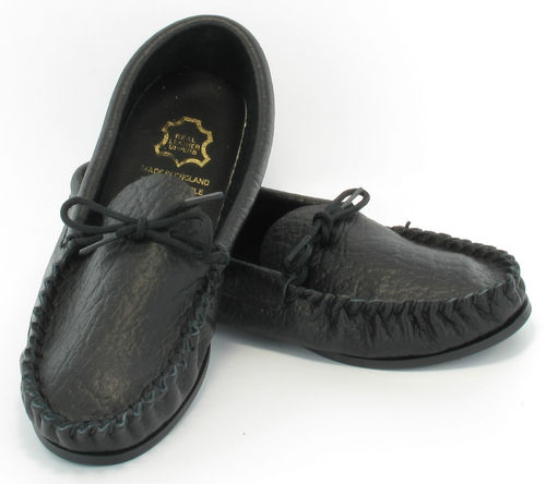 Mens-LEATHER-HAND-MADE-CASUAL-MOCCS-MOCCASINS-SLIPPERS-SHOES-BLACK-sizes-6-to-13