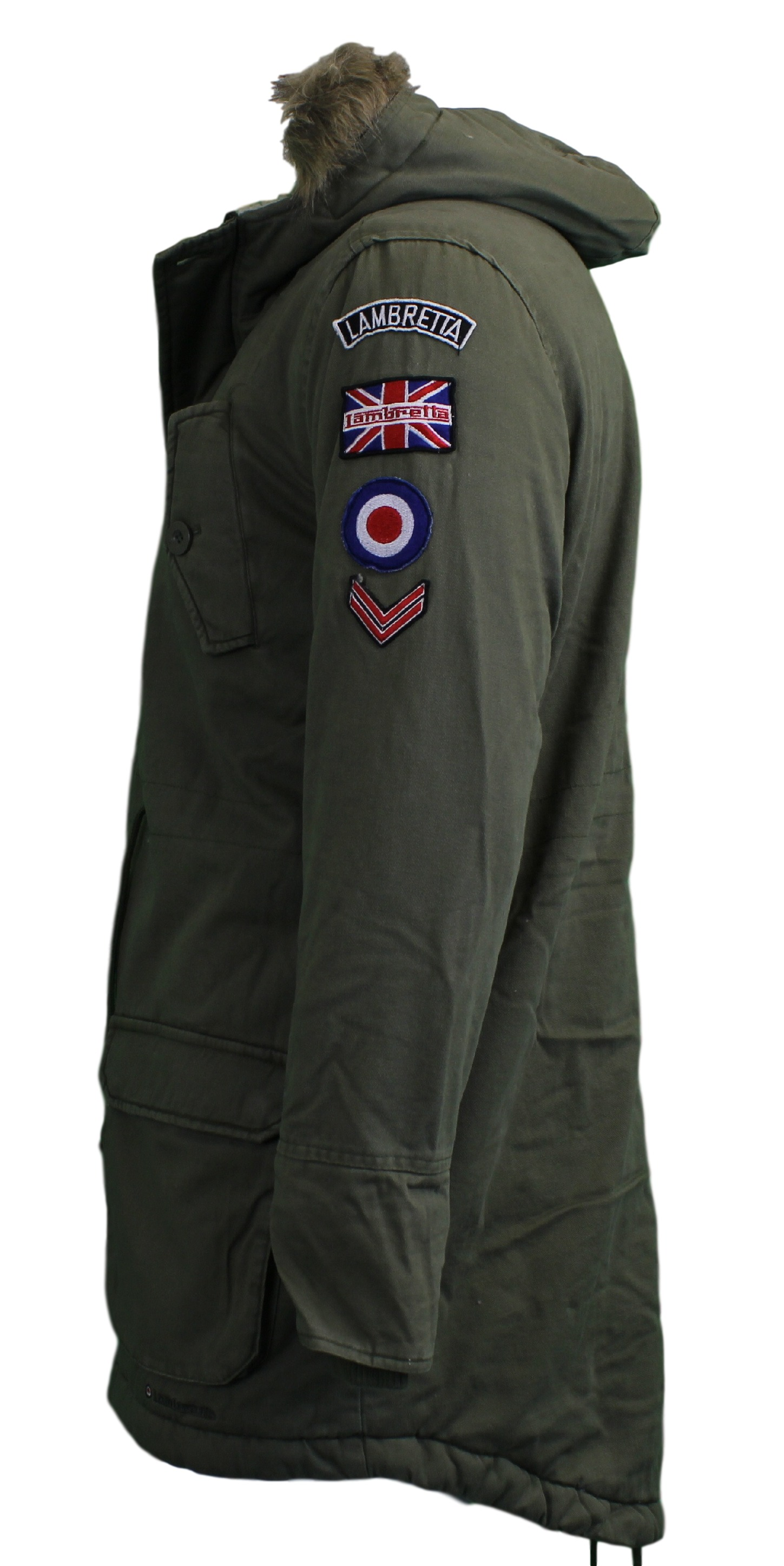 Mens Lambretta Carnaby Scooter MOD Parka Original Jacket Coat XS ...