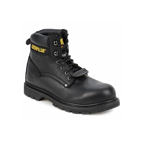 Mens CATERPILLAR BLACK HEAVY DUTY STEEL TOE SB SAFETY WORK BOOTS 7 8 9 10 11 12 | EBay