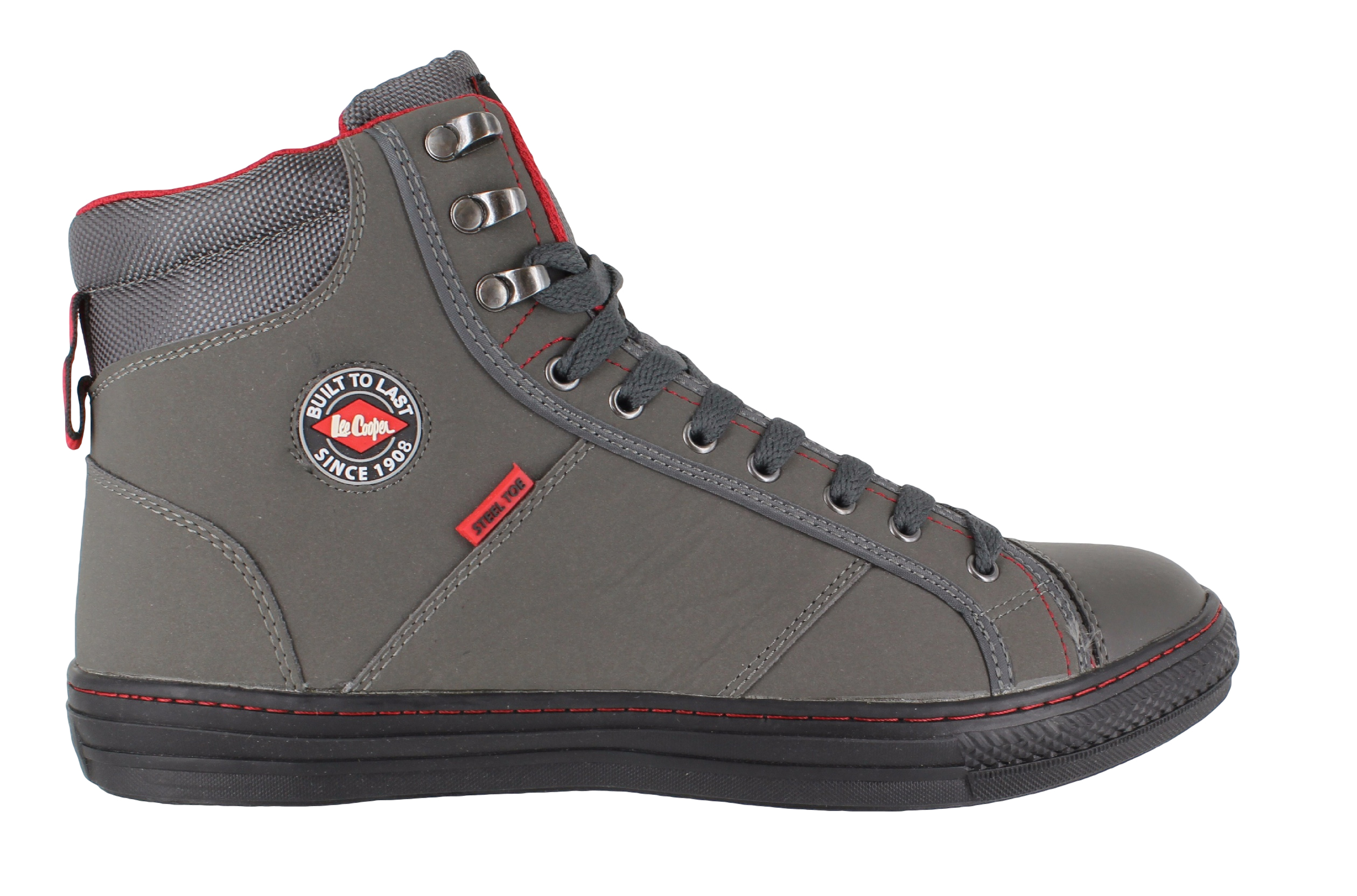 mens womens cooper steel toe sb safety baseball boots