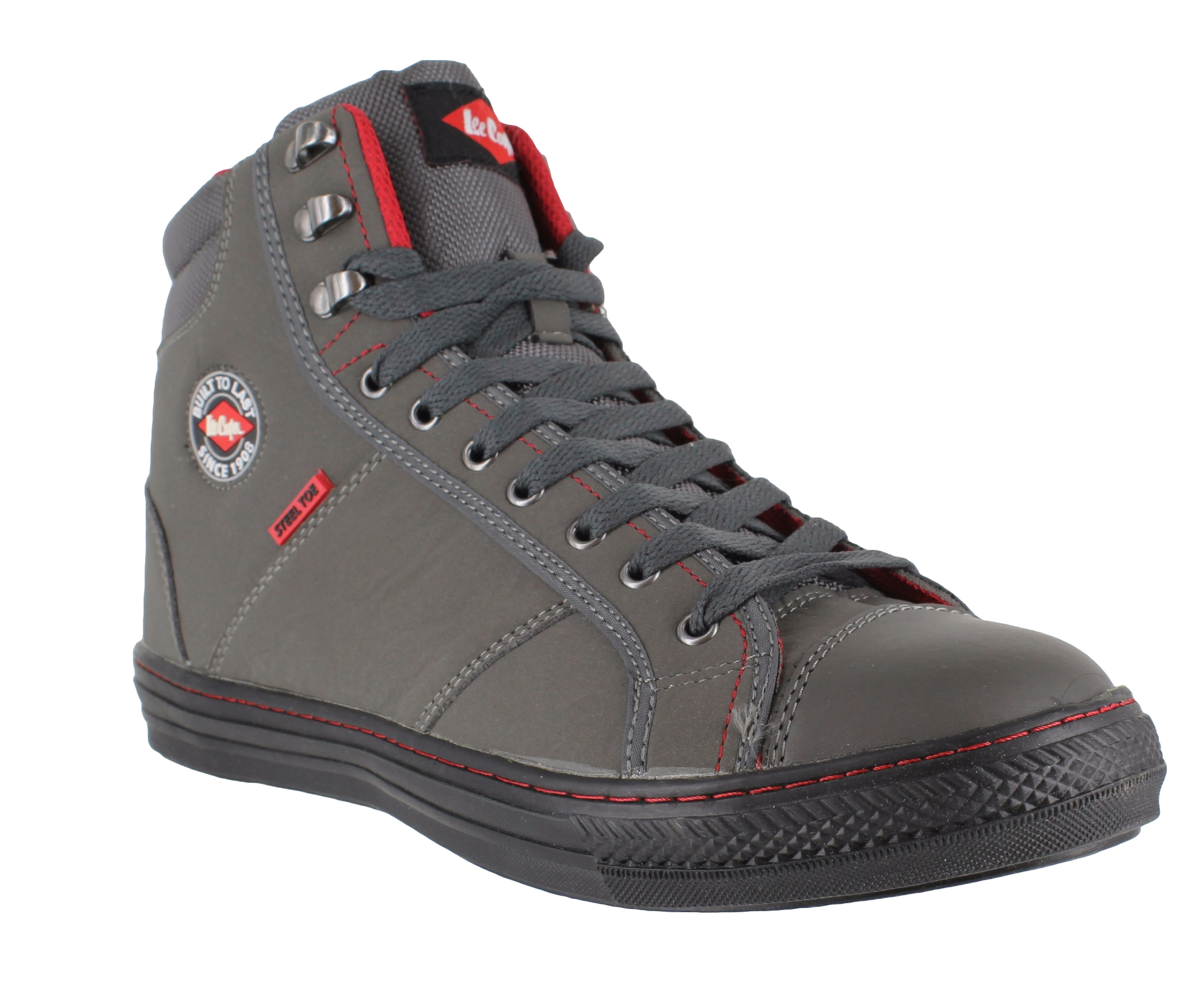 Mens Womens Lee Cooper Steel Toe SB Safety Baseball Boots High Top ...