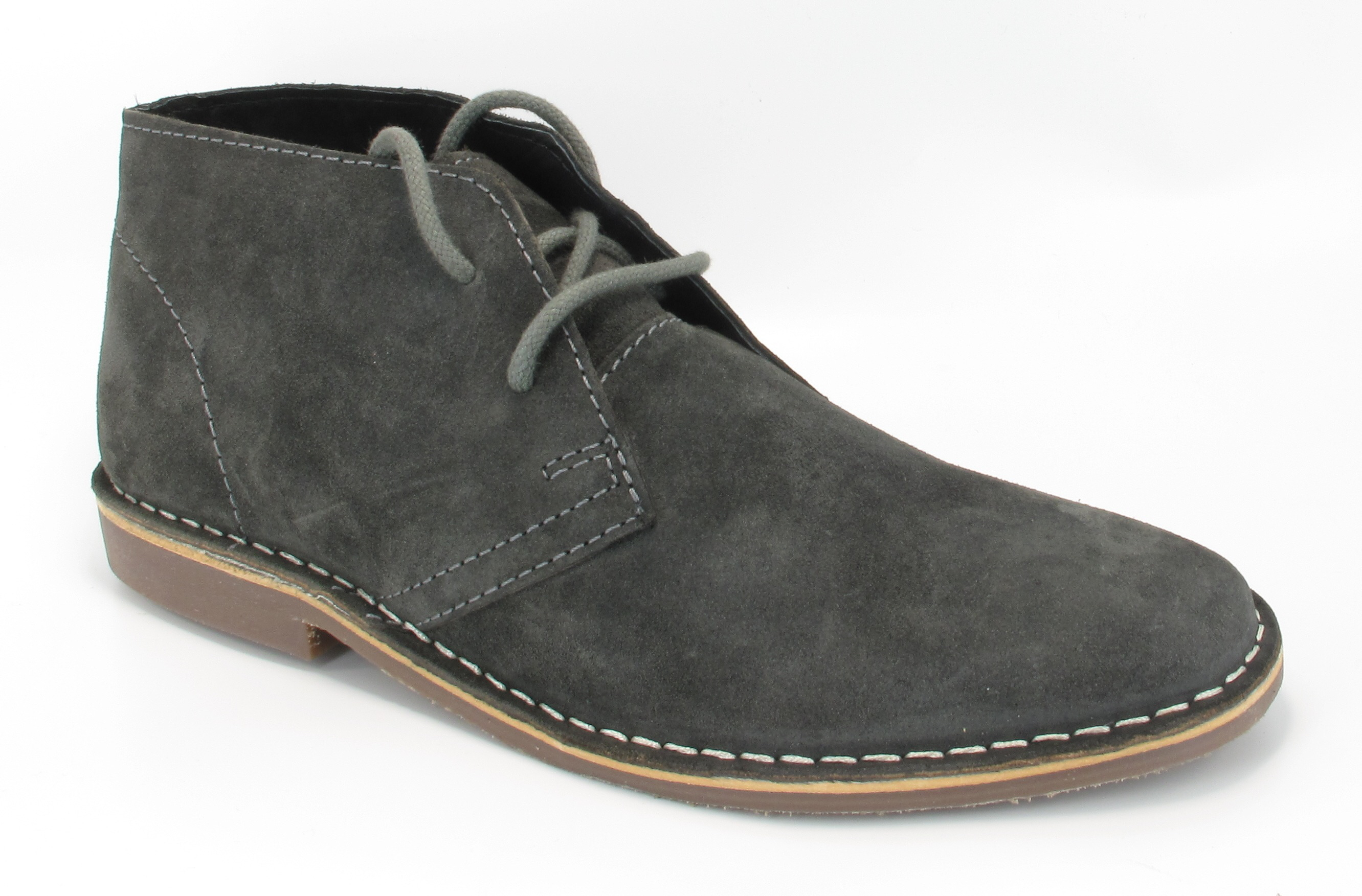 mens gobi grey genuine suede lace up desert