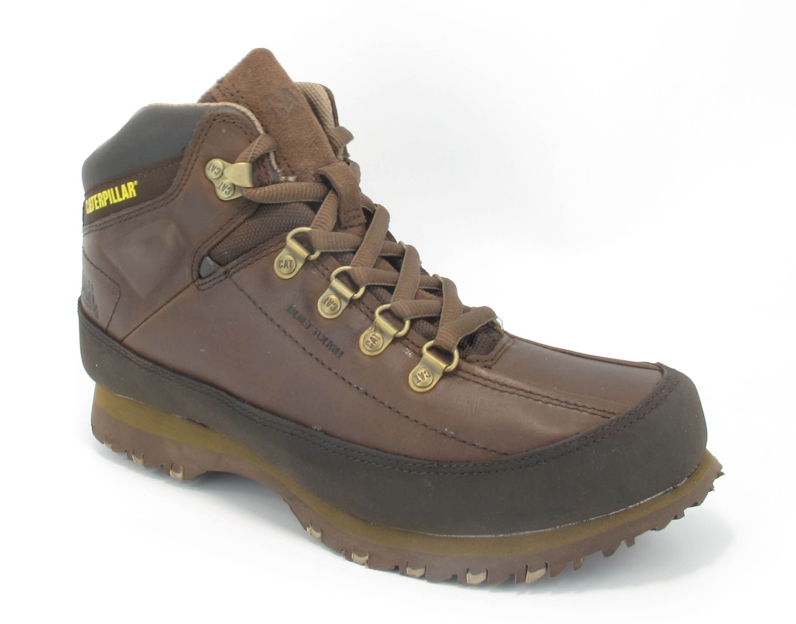 mens caterpillar restore brown leather hiking lace up