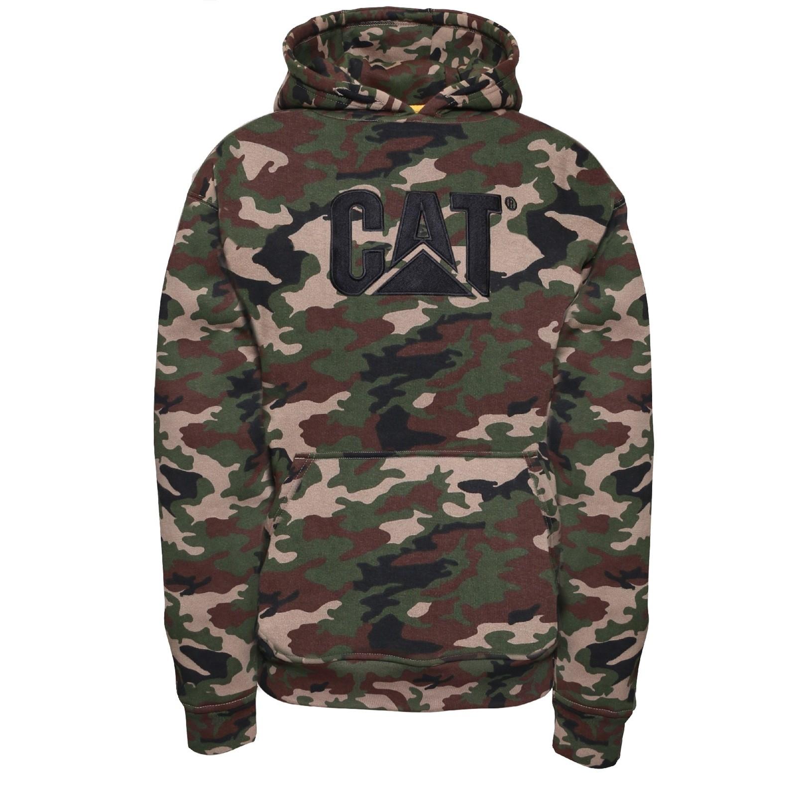 Caterpillar-Marca Pull Over Sweater con Capucha