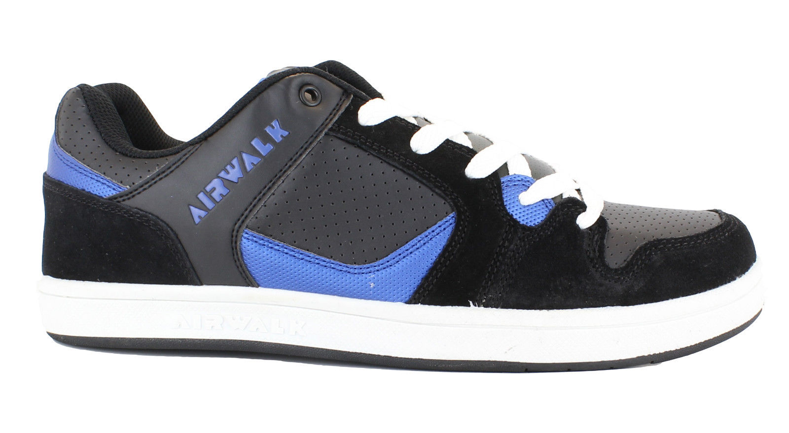 airwalk metalhead mens black and blue lace up skate