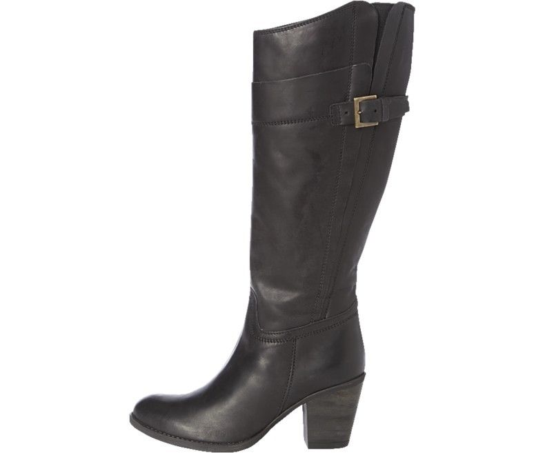 hush puppies shae black womens knee high leather boots ebay