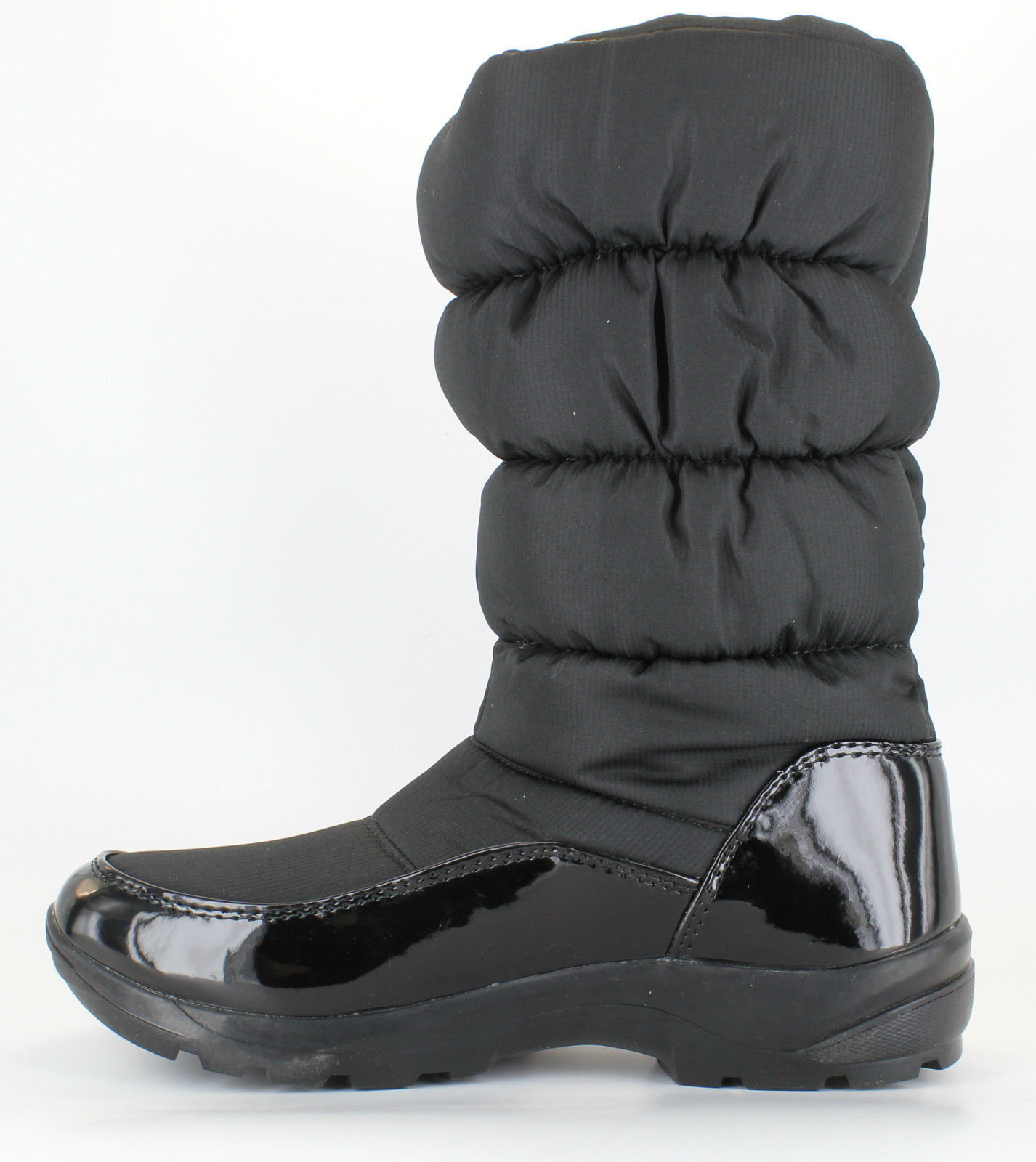 padders freeze womens black winter snow boots e width