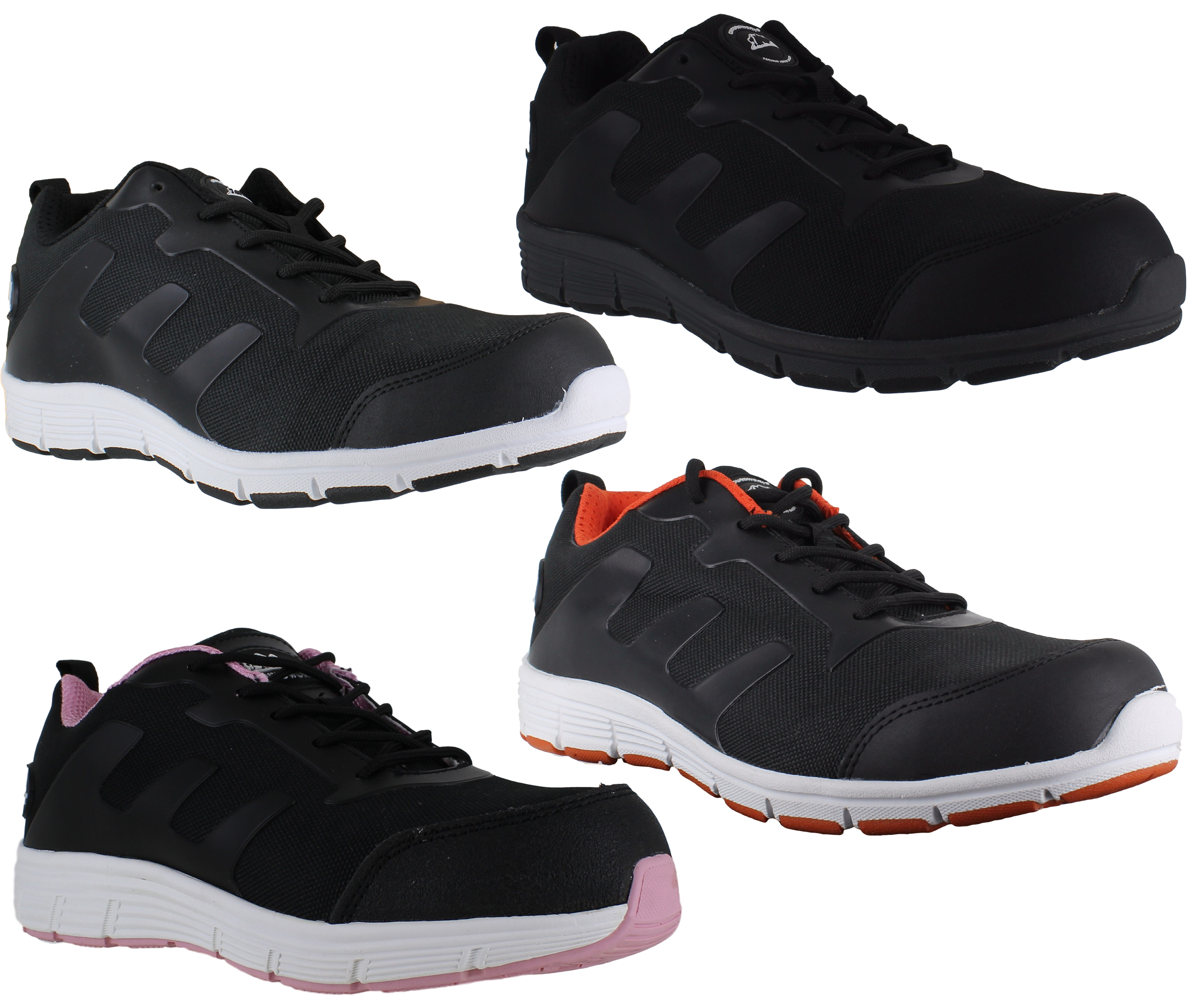 mens womens groundwork lightweight steel toe safety shoes