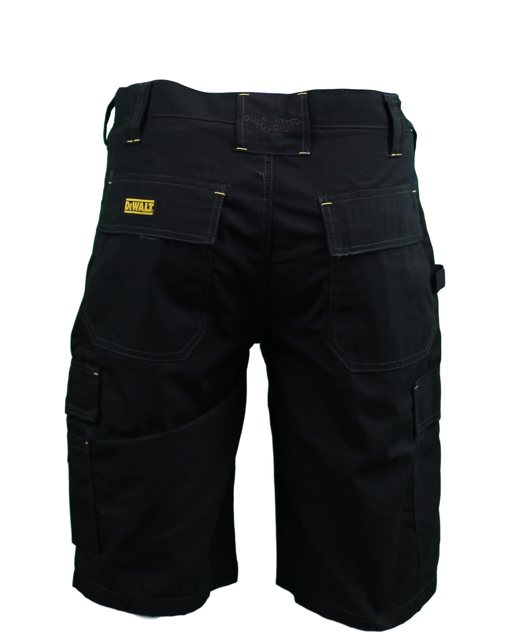 DeWalt Mens Black Utilty Pocket Cargo Work Shorts