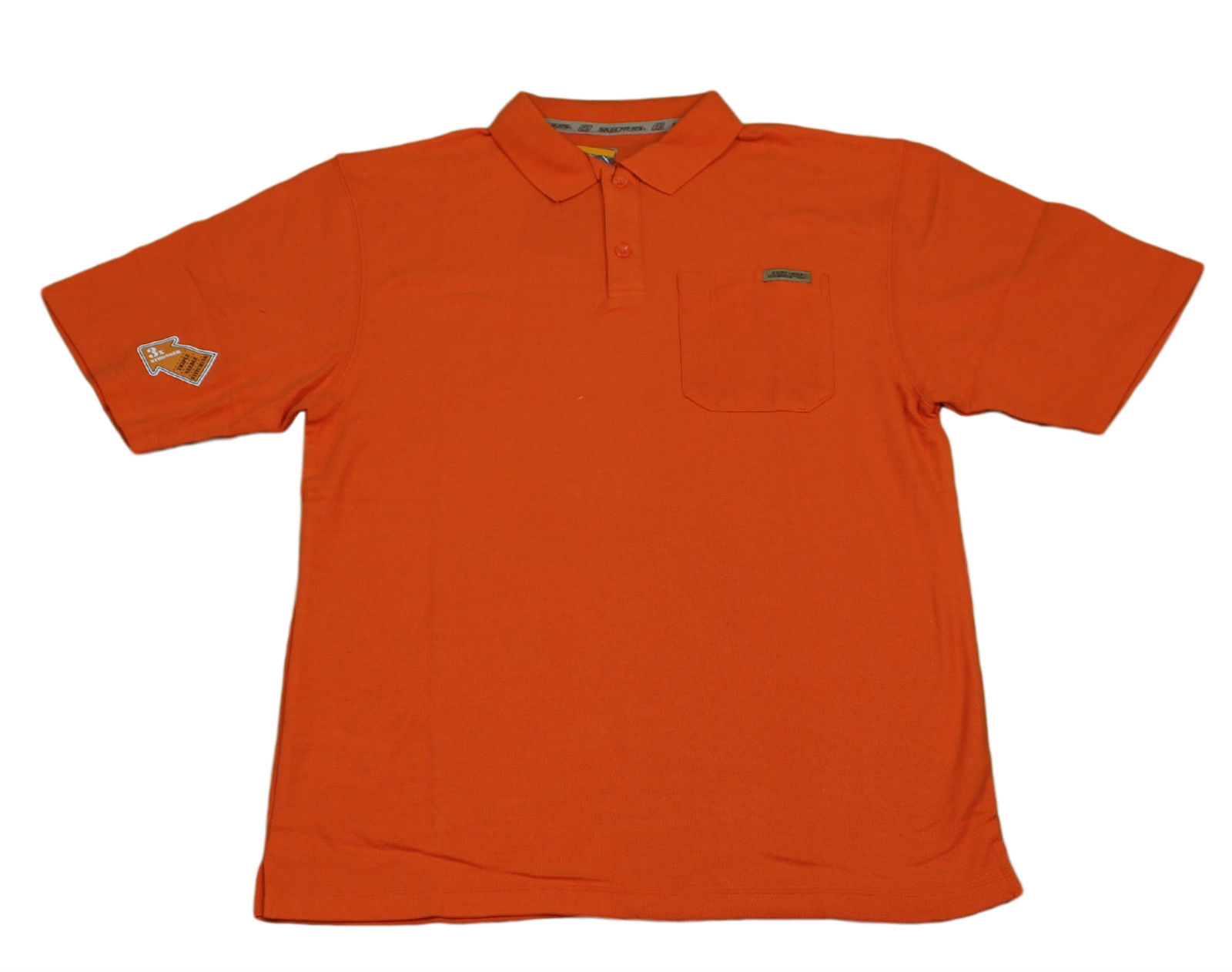 Mens skechers casual work shortsleeve polo tee t shirts for Mens t shirts 4xl