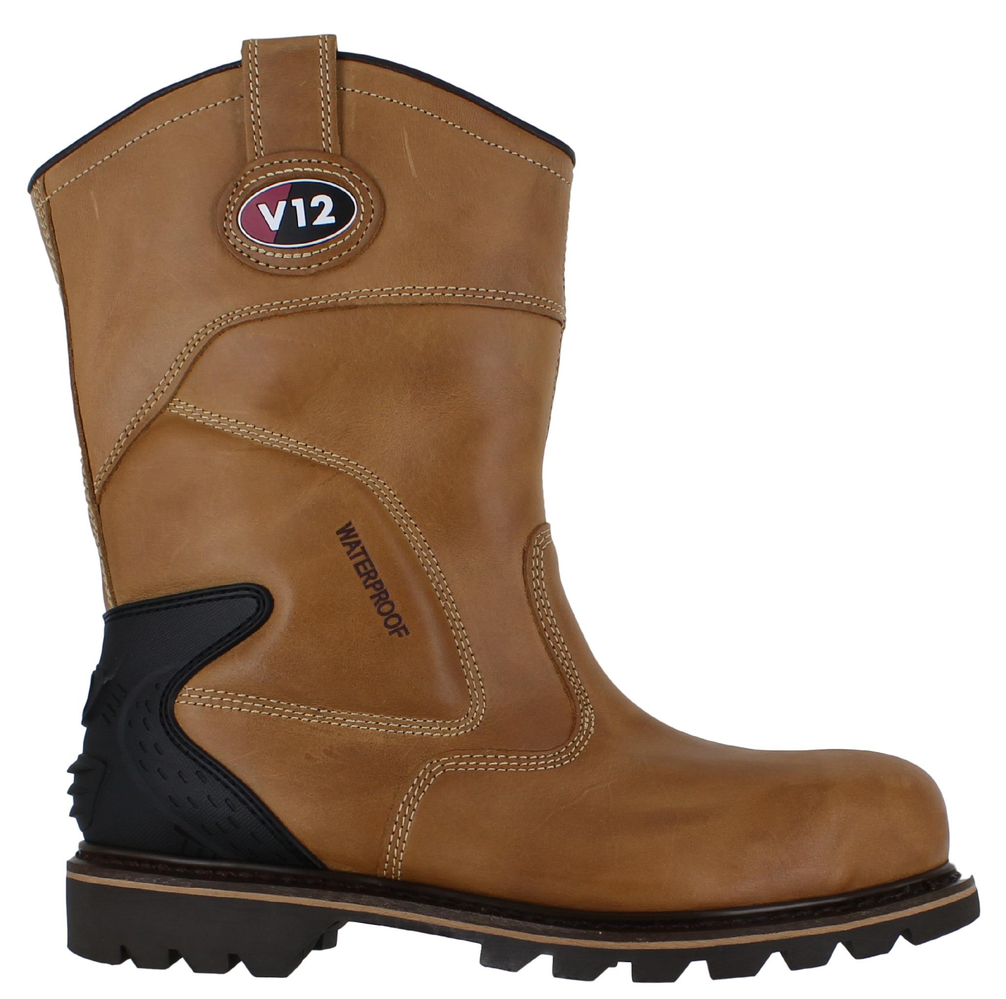 V12 Best Mens Steel Toe Waterproof Safety Rigger Work ...