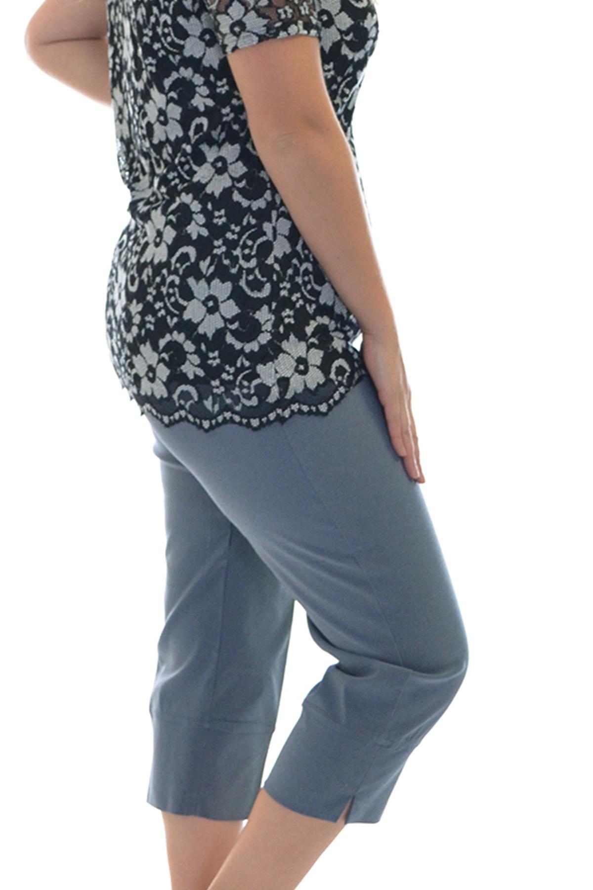 New Womens Trousers Ladies Plus Size Plain Pants Capri ...