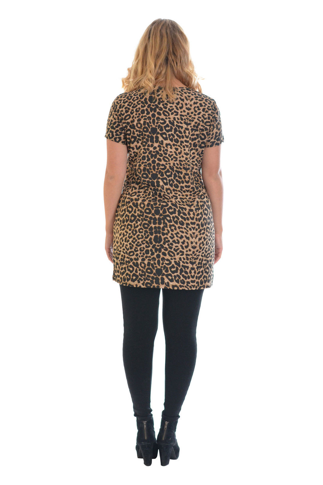 New Womens Top Ladies Plus Size Leopard Print T Shirt ...