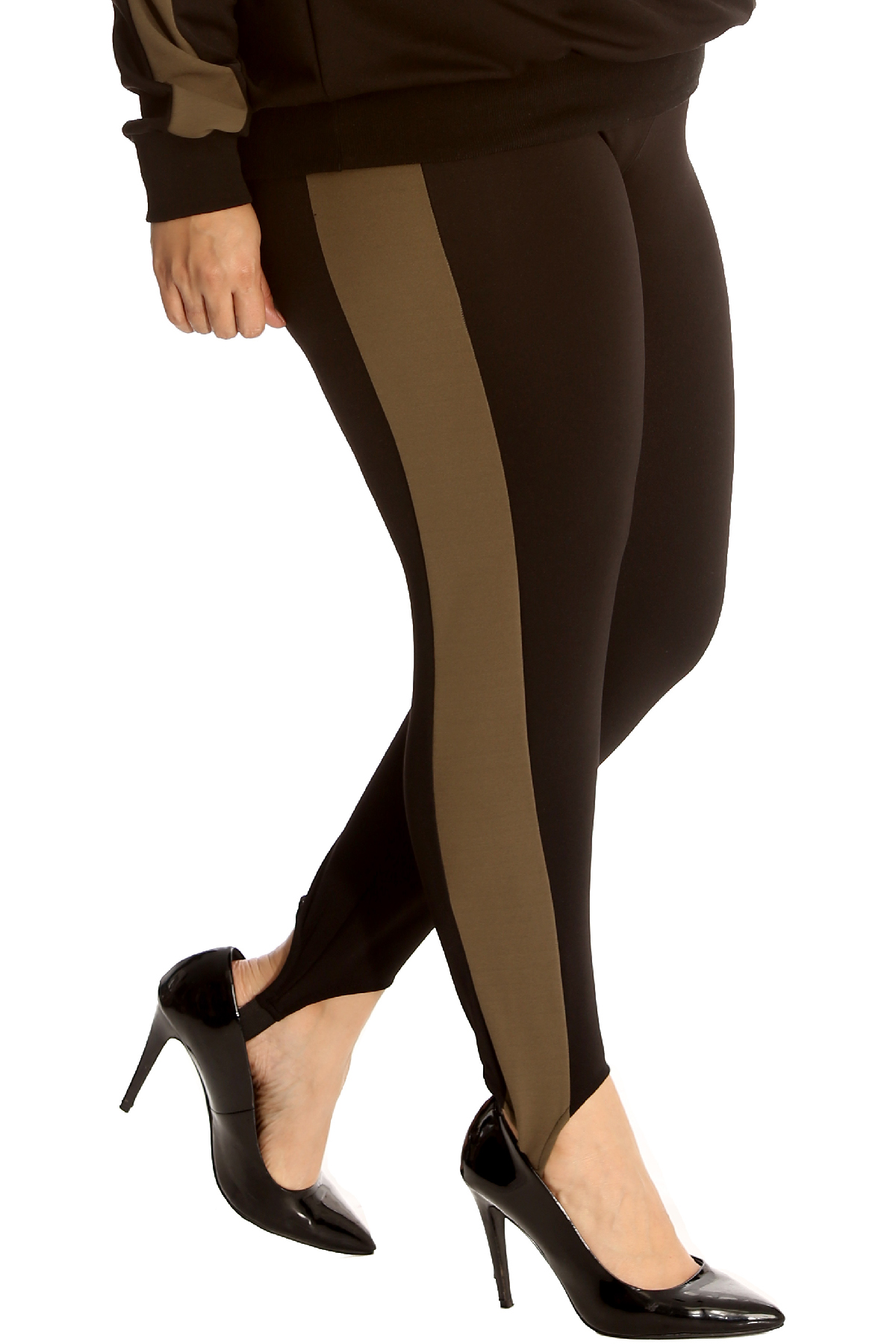 New Womens Pants Plus Size Ladies SKI Style Side Stripe Trousers Ankle Support