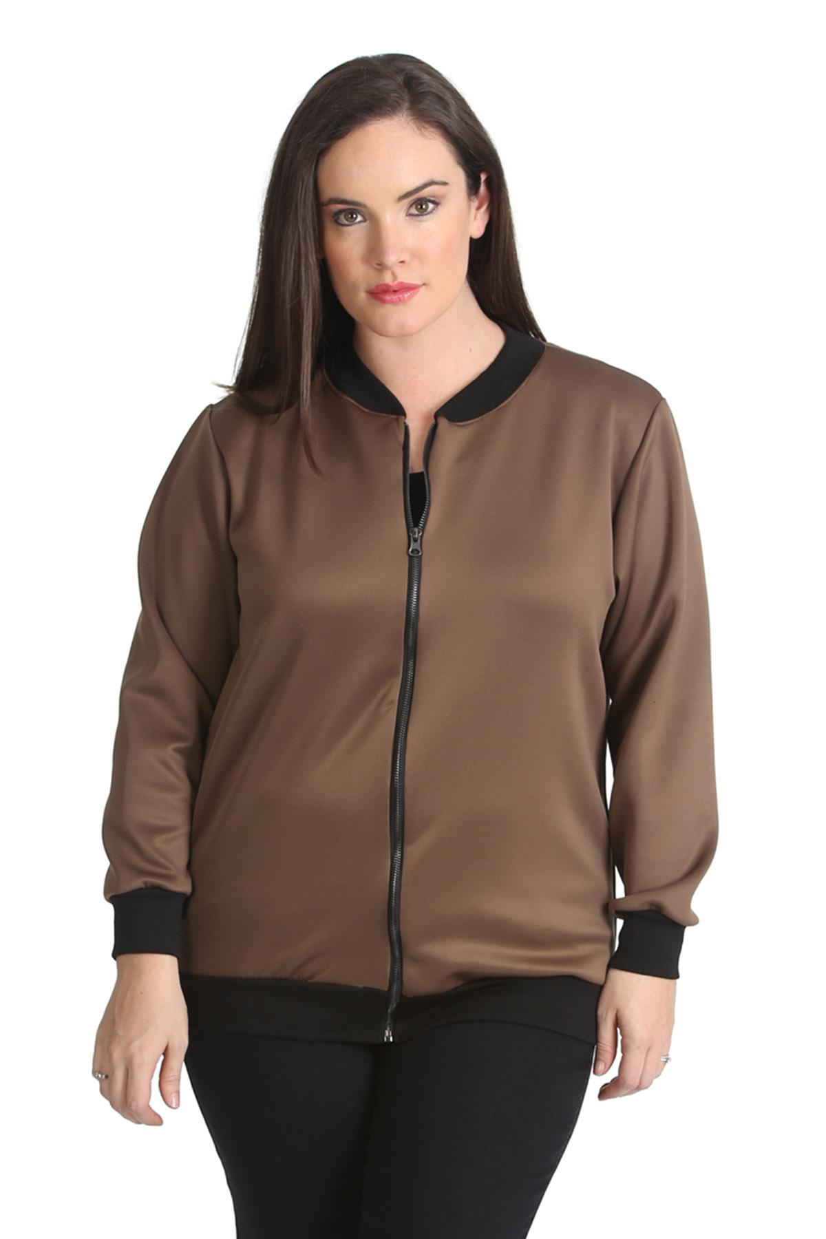 New Ladies Bomber Jacket Womens Plus Size Ribbed Varsity Style ...
