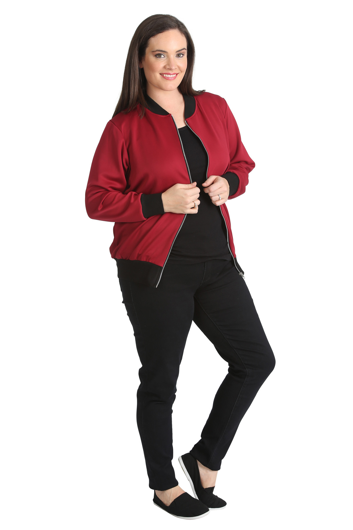Zip Front Ladies Cardigan 82