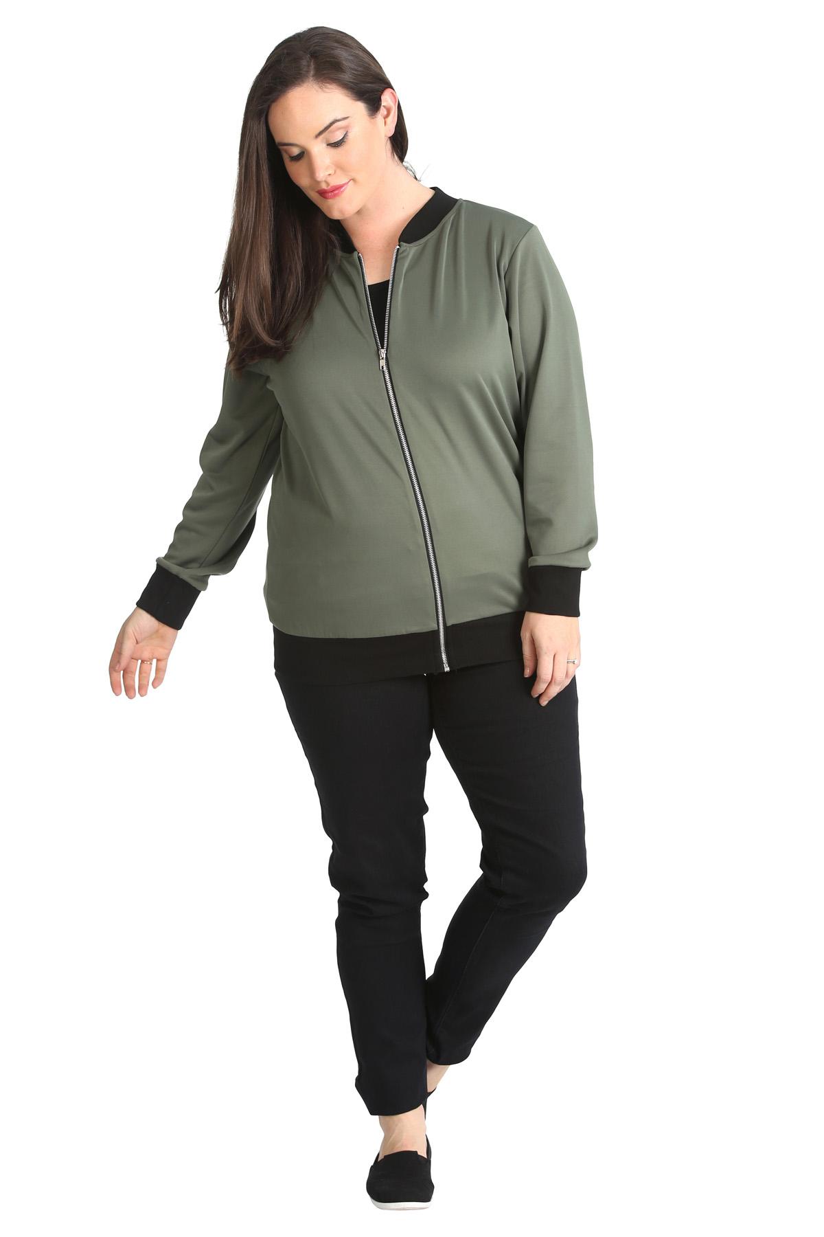 New Ladies Bomber Jacket Womens Plus Size Ribbed Varsity ...