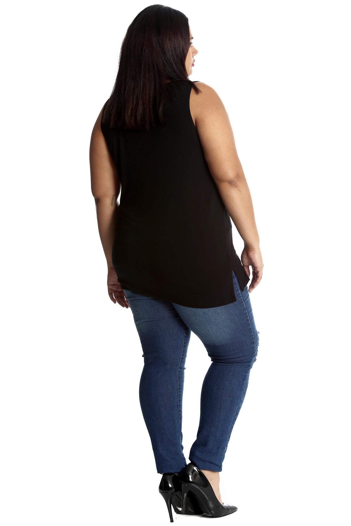 NUOVA linea donna Taglie Forti Jeans Donna Strappato Gamba Dritta Con Paillettes Con Patch NOUVELLE