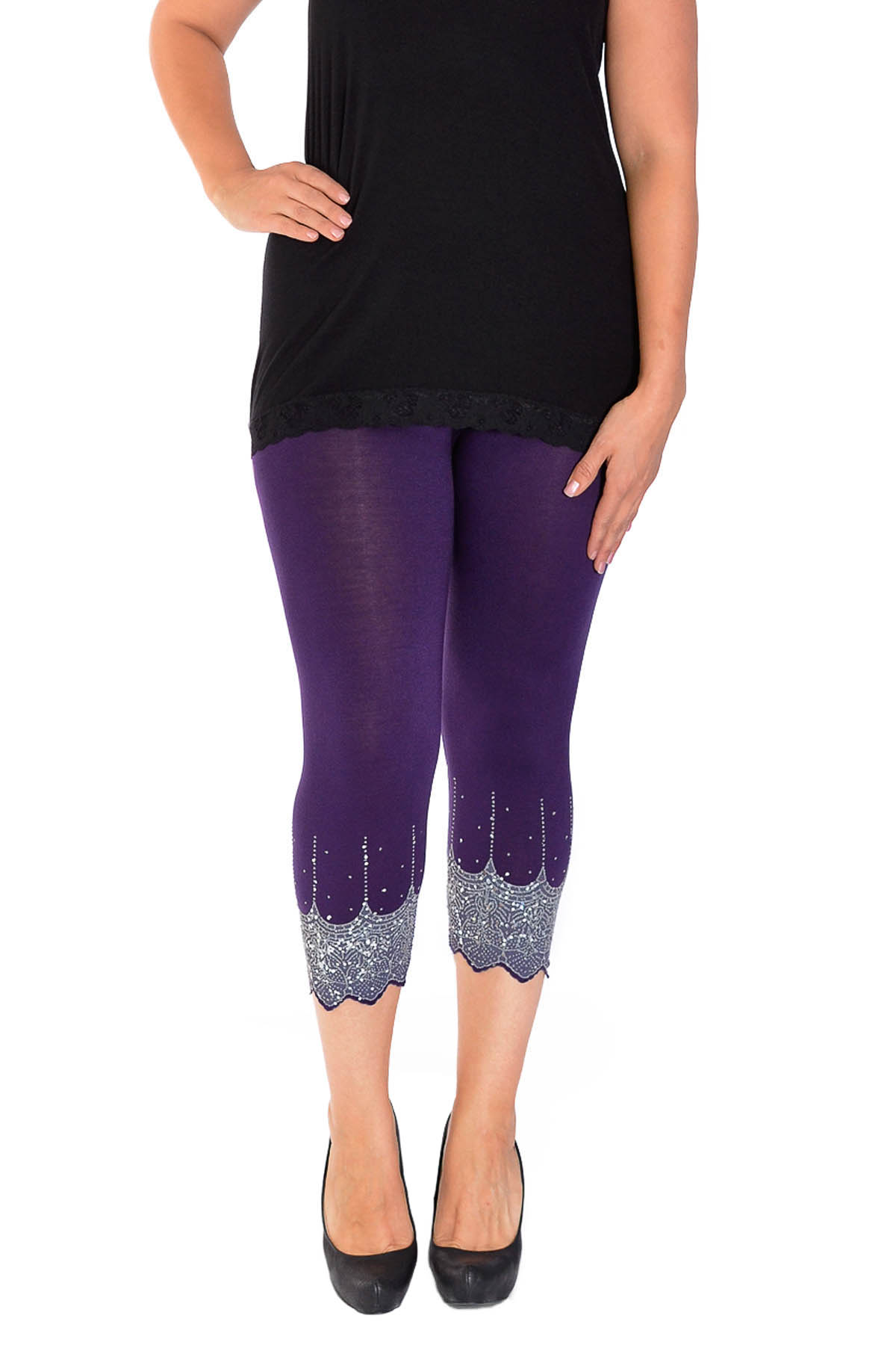 FREE SHIPPING - Browse our vast selection of women's capri leggings in colors and styles that you will love to wear and prices that paint a smile.