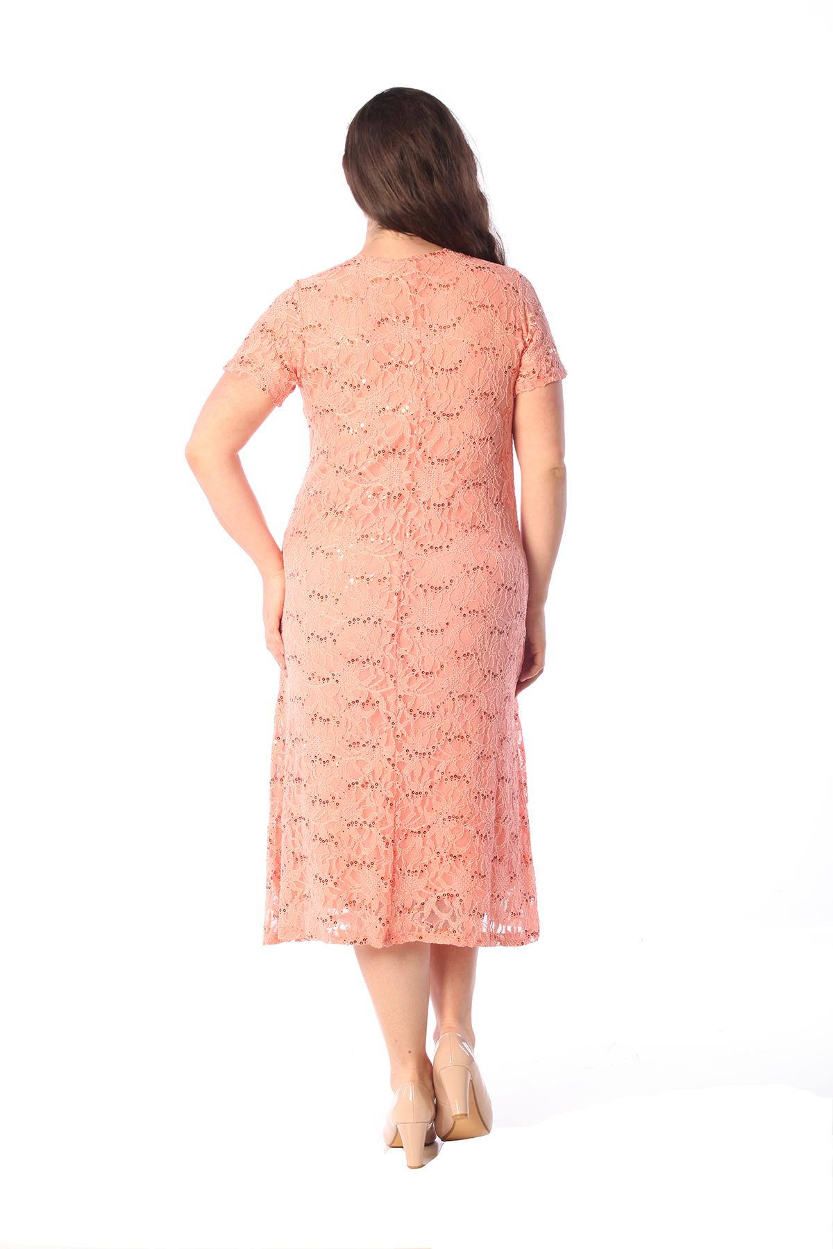 Womens Dress Ladies Plus Size Flapper Sequin Lace Floral ...