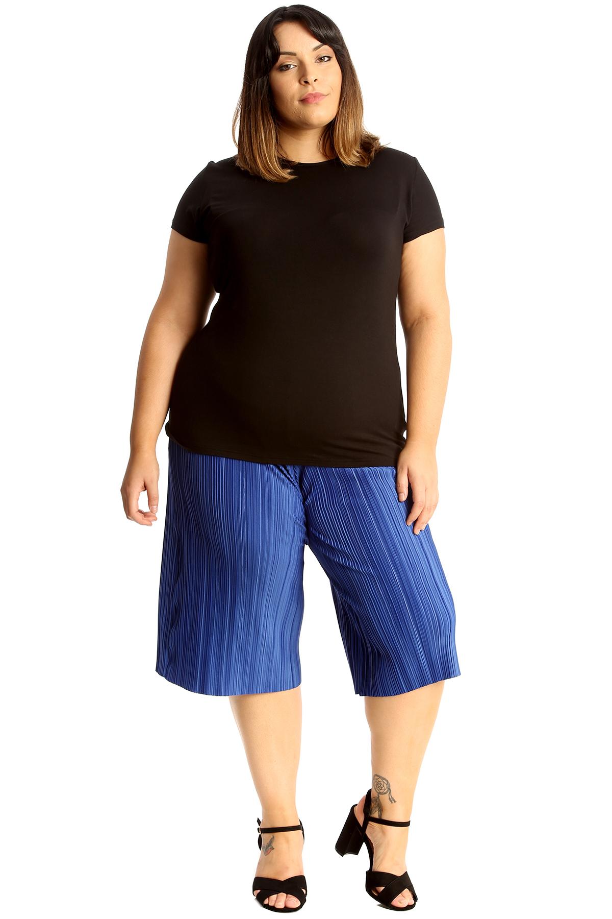 Nouveau Haut Plus Taille Culottes Femmes Crinkle Short vente Summer genou élastique