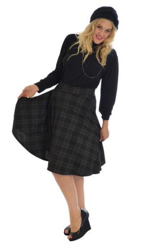 tartan skater skirt scottish check midi skirt