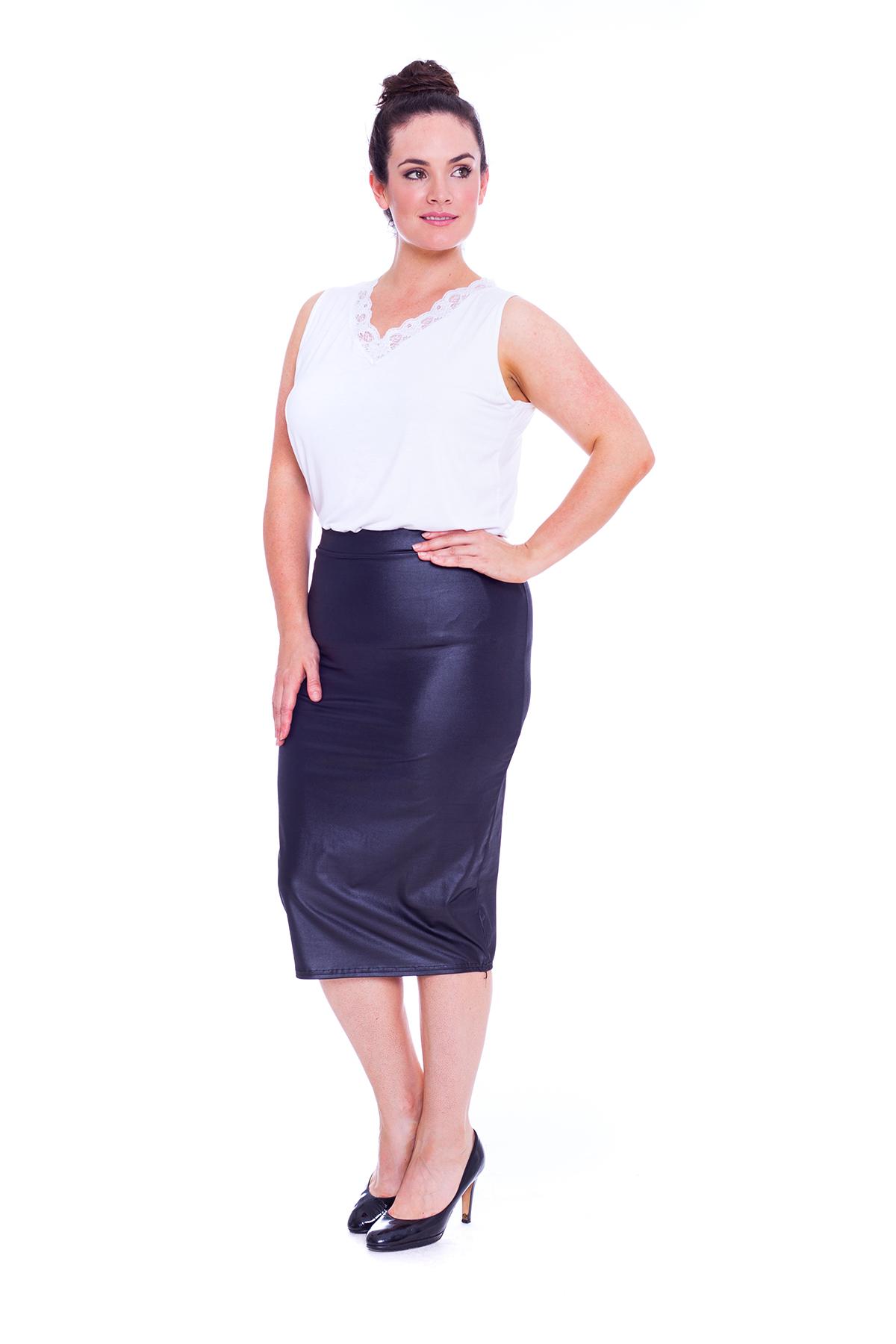 new womens skirt plus size bodycon midi pencil pvc
