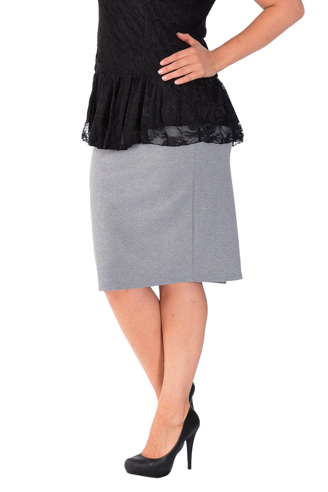 new womens plus size skirt pencil bodycon stretch elastic