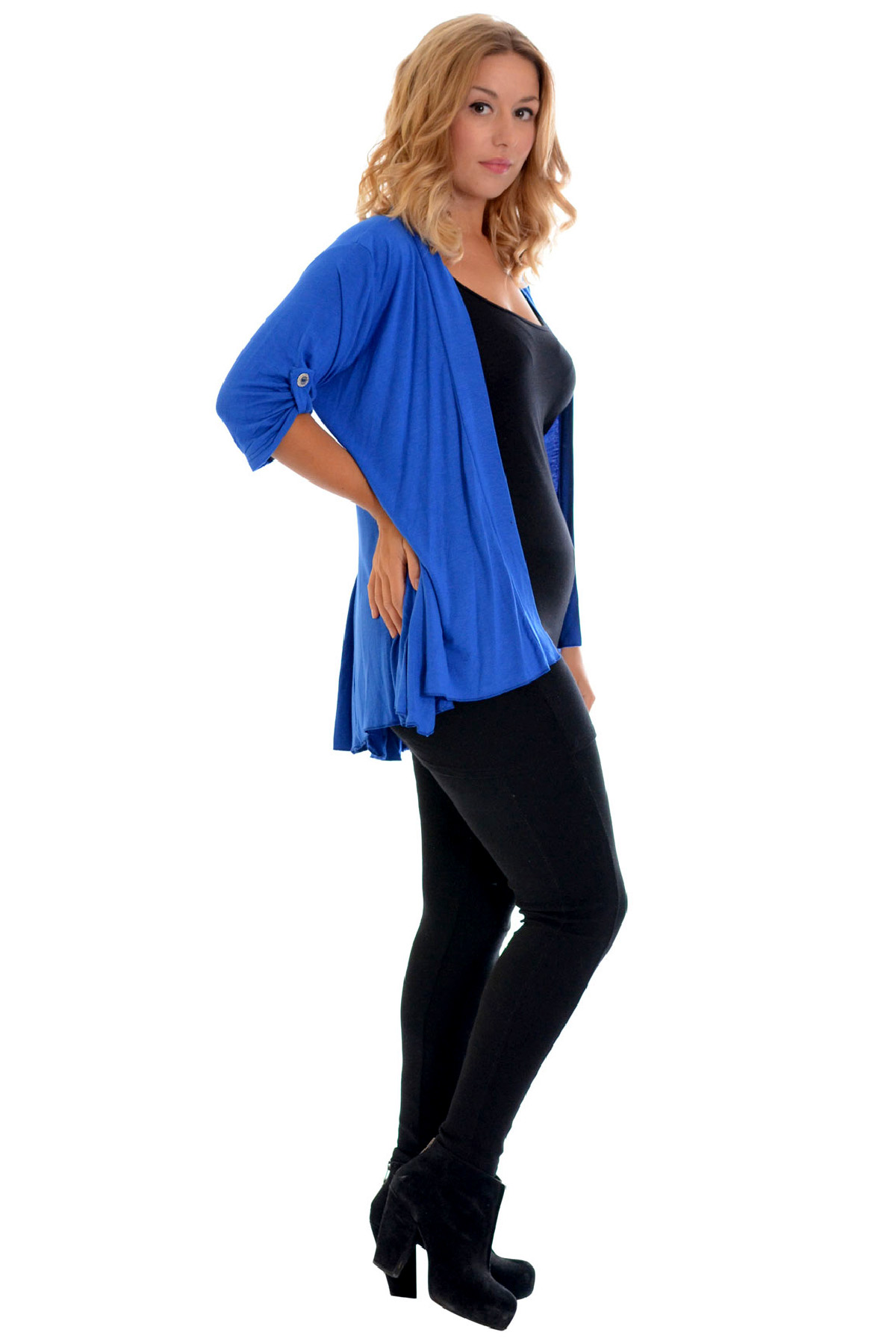 Womens Waterfall Plus Size Cardigan Ladies Top Open Front Sweater Warm Nouvelle