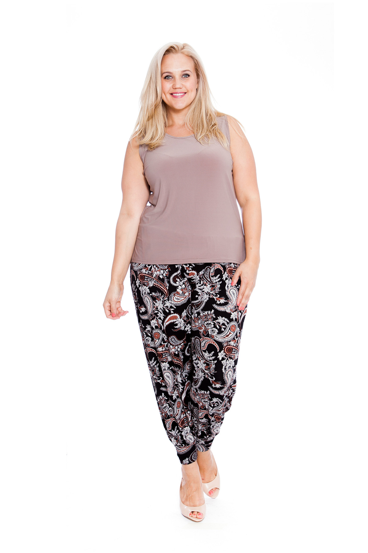 Femme harem pantalon taille plus femmes ali baba yoga pantalon imprimé cachemire nouvelle