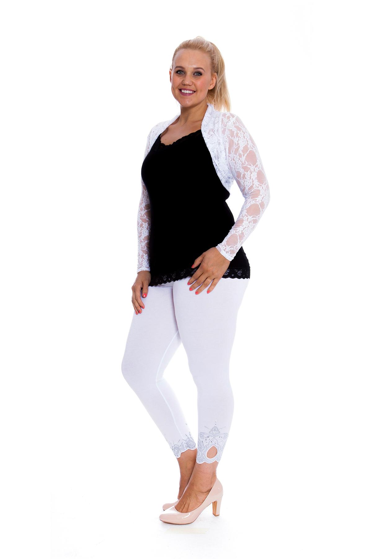 Womens Shrug Ladies Top Lace Long Sleeve Bolero Open Front Plus Size Nouvelle