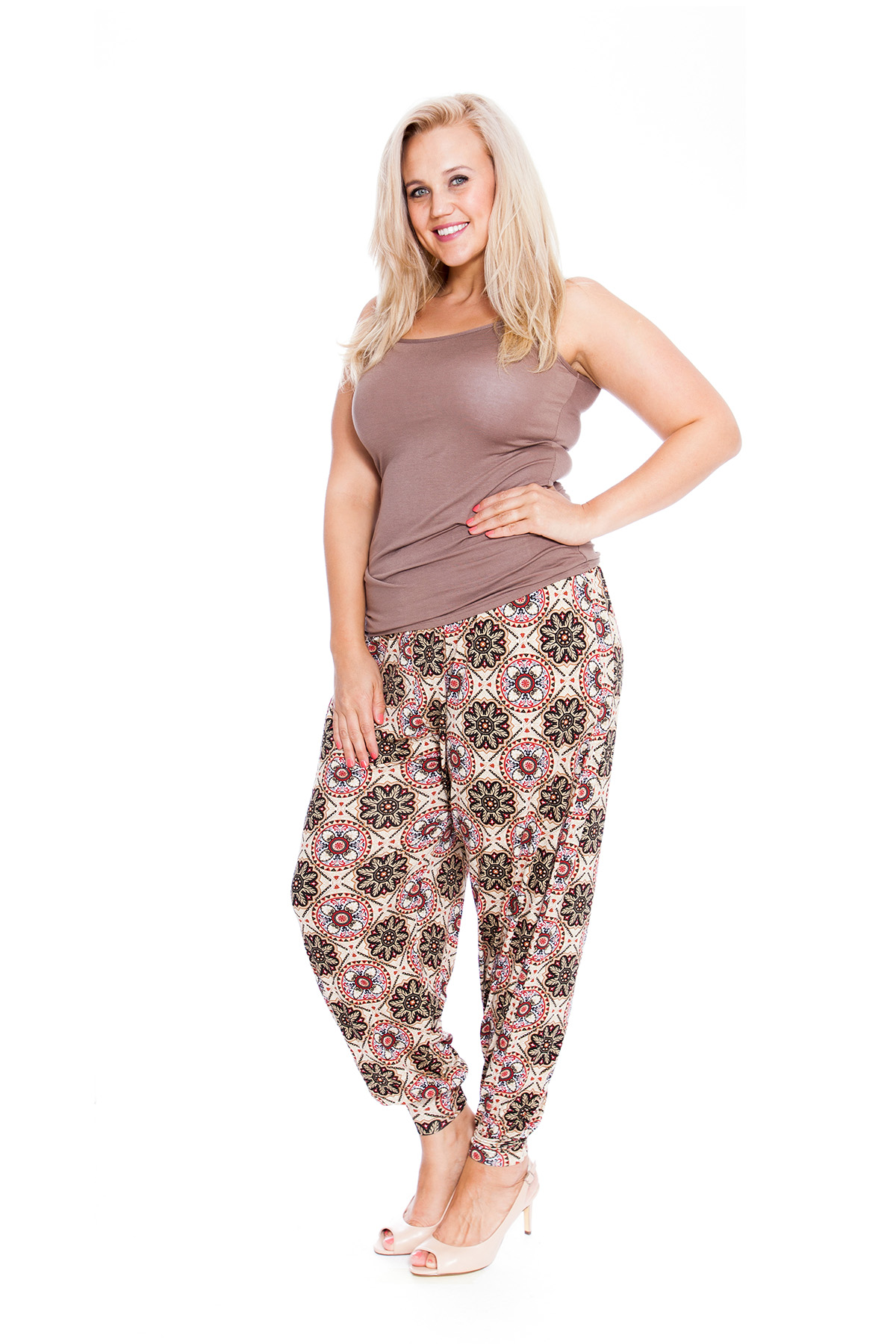 Womens Harem Plus Size Trouser Ladies Ali Baba Mirror Moroccan Print Nouvelle
