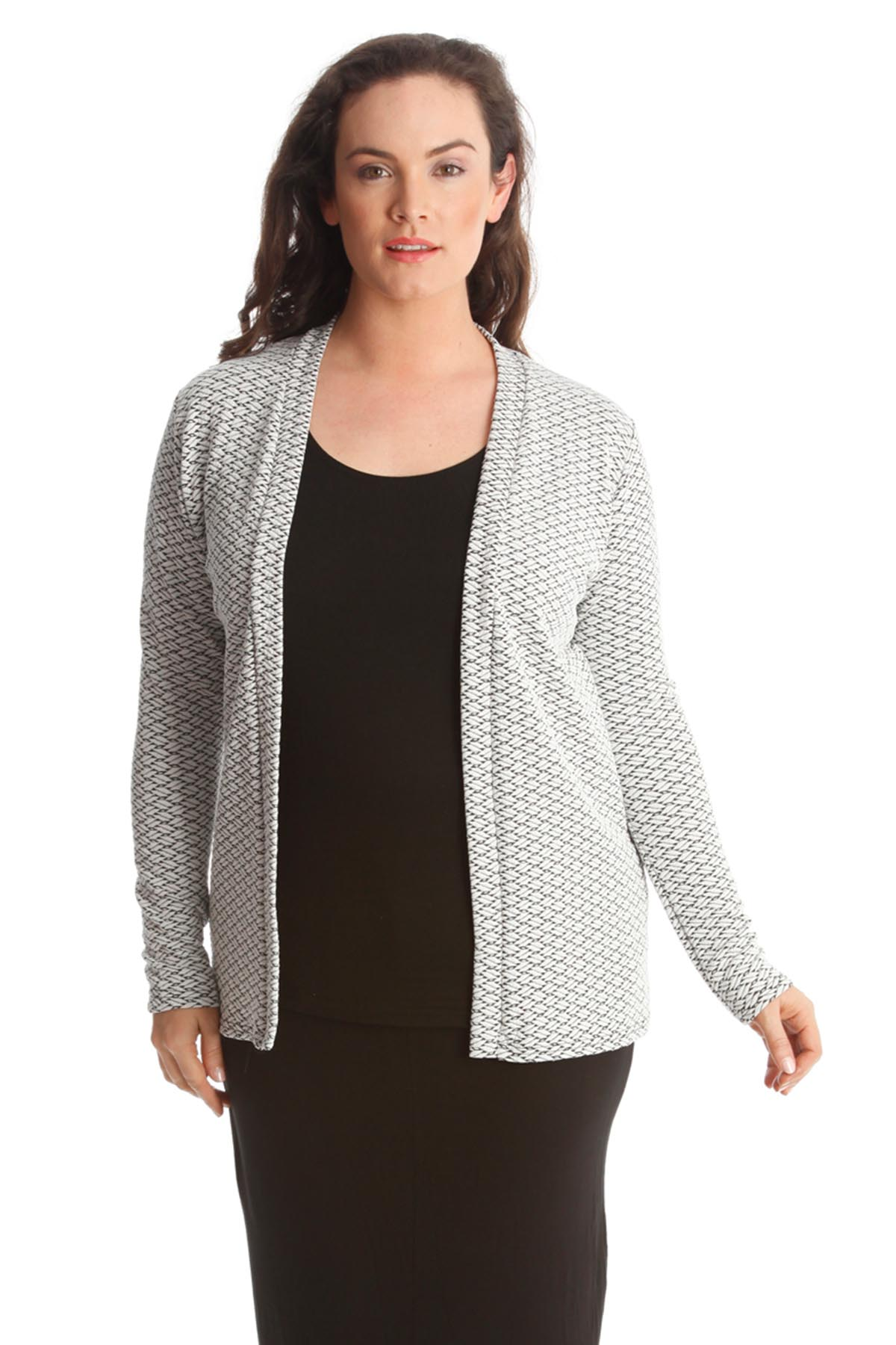 New Ladies Blazer Womens Plus Size Jacket Texture Fabric ...